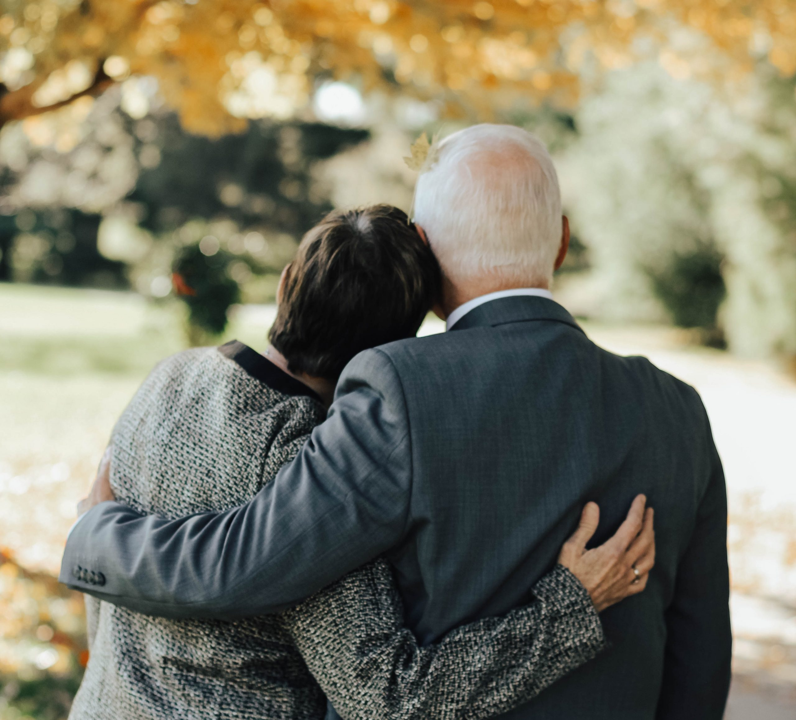 grandparents hugging